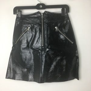 & other stories blk faux leather skirt 4